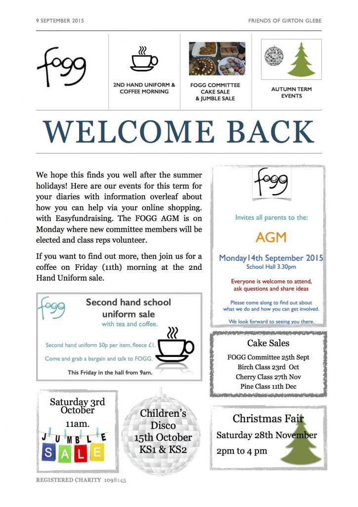 FOGG Newsletter Sept 15