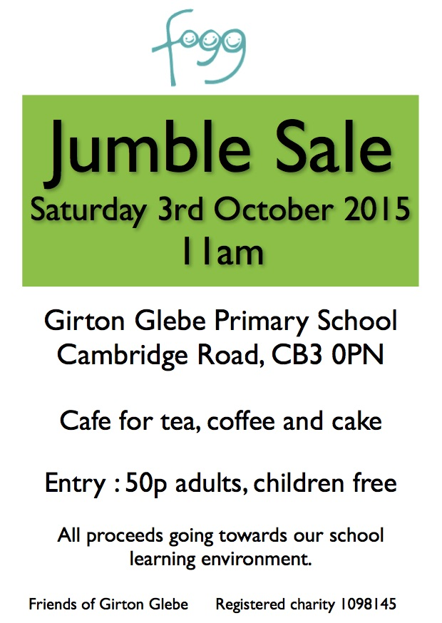 Jumble sale Autumn GPN advert copy