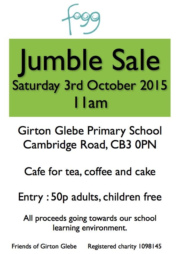 Jumble sale Autumn GPN advert copy