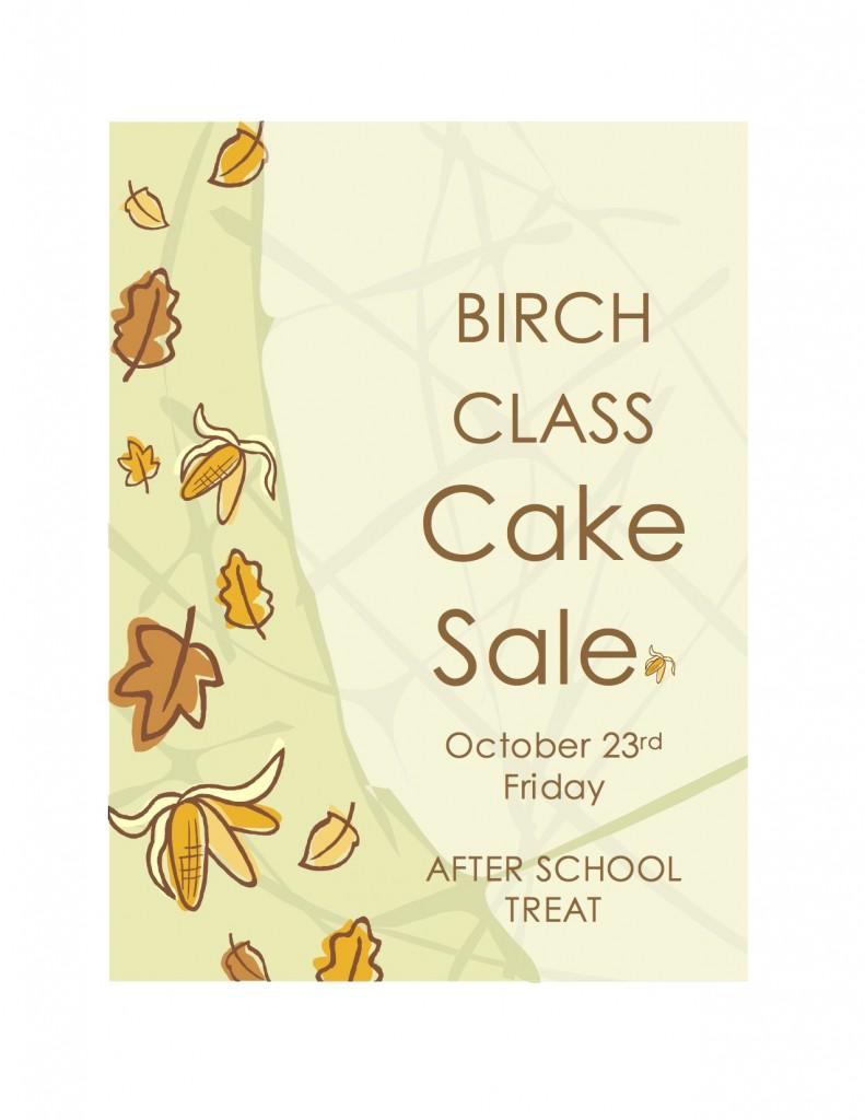 Birch class cake sale